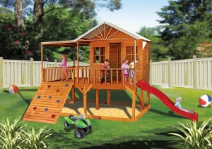 wooden cubby house plans