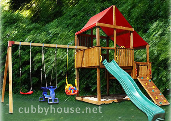 How a cubby house can help improve adhd symptoms cubby for Diy adult swing set