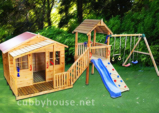 How a cubby house can help improve adhd symptoms cubby for Diy backyard playground