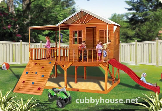 Cubby houses the perfect adventure playground cubby for Backyard clubhouse plans
