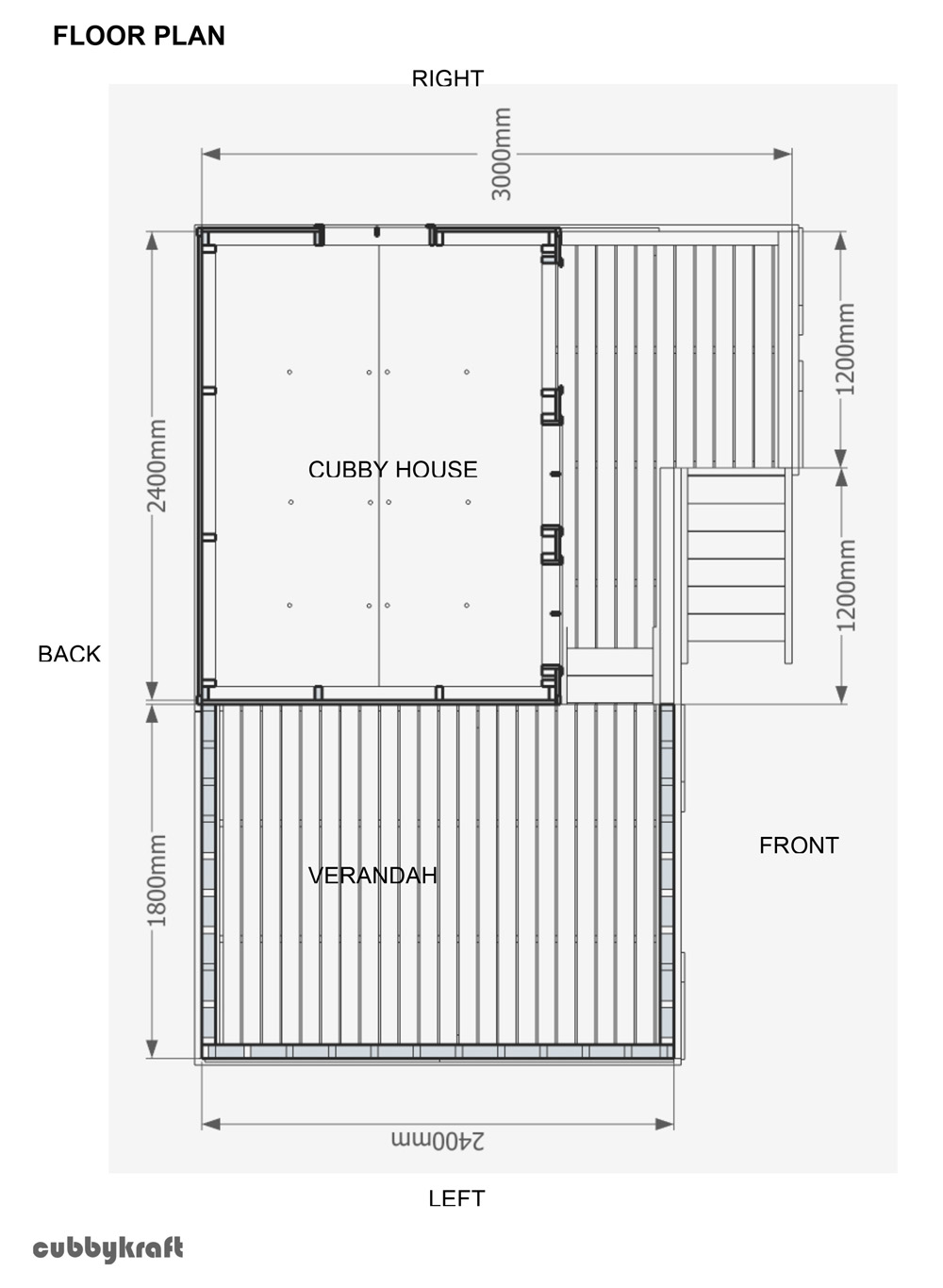 Country cottage cubby house australian made backyard for Playground building plans