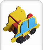 Toddlers ride on Toy