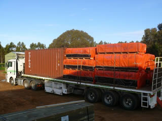 Truckloads of Cubbies are delivered Australia Wide each week
