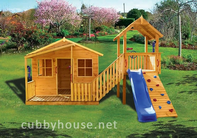 Kimba Castle Cubby House Australian Made Wooden Playground